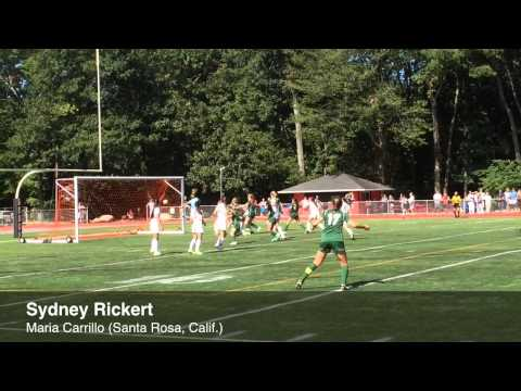 Watch: Sydney Rickert gives Maria Carrillo a 1-0 lead on Saturday.