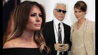 Melania Trump calls Karl Lagerfeld 'creative genius' while paying homage
