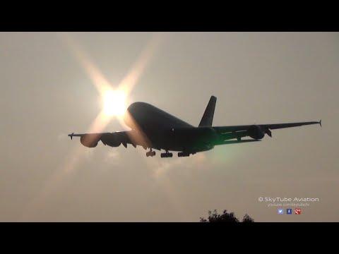 Qantas Airways Airbus A380 | Landing | Runway 27L Heathrow Airport
