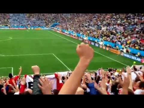 Football World Cup 2014 Brazil - England National Anthem vs Uruguay - Live Sao Paulo