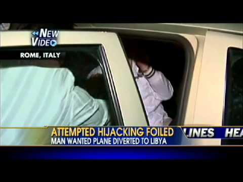 VIDEO: Attempted Hijack of Alitalia Flight Foiled, Man in Custody