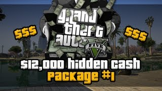 GTA 5 - Easy $12,000 First Hidden Package #1 Location Voice Tutorial [HD]