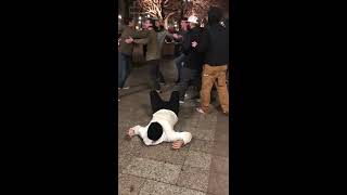 Video shows dramatic fight in downtown Salt Lake City; man kicked in face during altercation