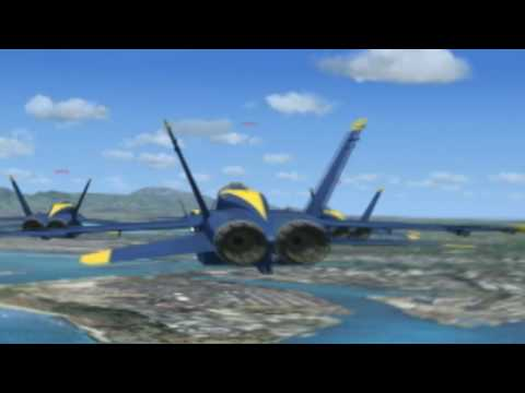 F/A-18 Blue Angels in FSX - Formation Flying!