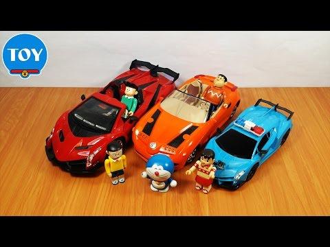 đồ chơi Doremon chế hài - cảnh sát Nobita bắt Chaien và Xeko thi đua xe điều khiển từ xa thumbnail
