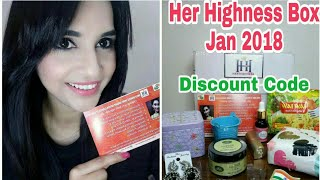 Her Highness January 2018 | Smile Sparkle Shine Edition | Unboxing & Review | Discount Code
