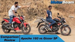 TVS Apache 160 vs Suzuki Gixxer - Comparison Review | MotorBeam