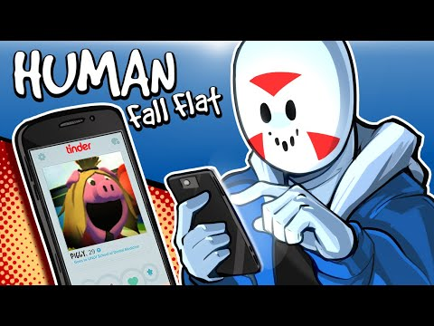 Human Fall Flat - SWIPE LEFT OR RIGHT?! (New Map)