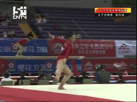 Cheng Fei FX qualification chinese national gymnastics 2011