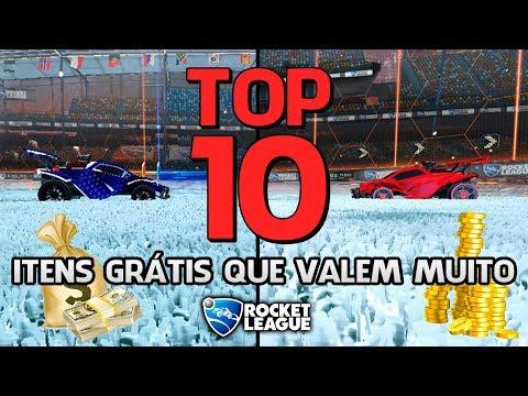 TOP 10 - ITENS MAIS RAROS QUE SÃO DE GRAÇA NO ROCKET LEAGUE!