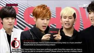 [ENG SUBS] Infinite 60 Seconds Interview @ MTV The Show 140603