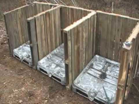 Compost bin made of pallets (video) in wood pallets 2  with Pallets Garden ideas