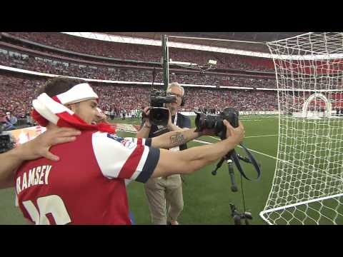 Arsenal: FA Cup final pitch-side celebrations