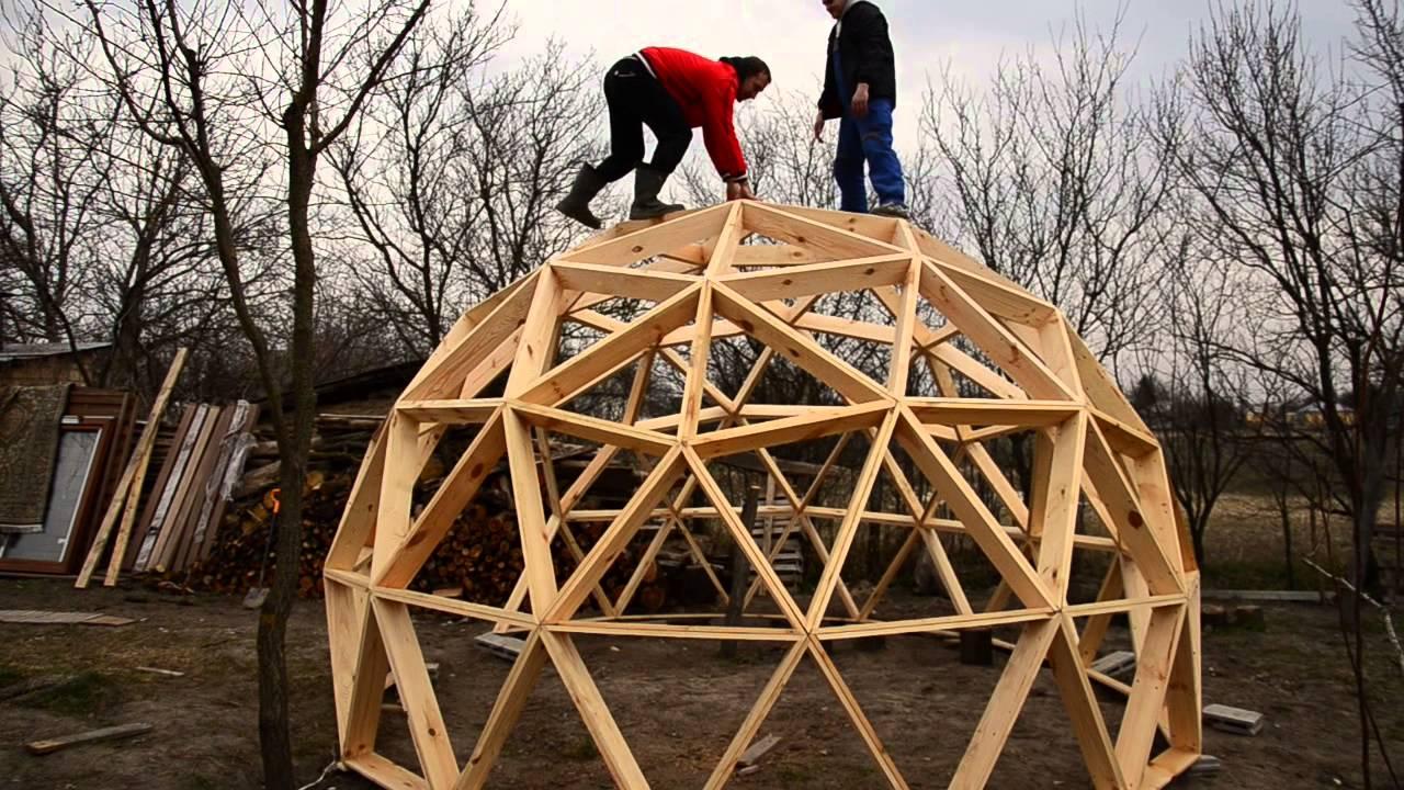 Геокупол из треугольников своими руками