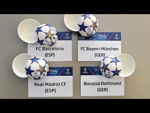 Bayern-Barca, Dortmund-Madrid in Champions League semi finals