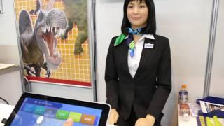 kokoro+協栄産業 受付案内ロボット ロボデックス2017