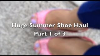 Summer Shoe Haul w/King Louis Vuitton (Part 1)
