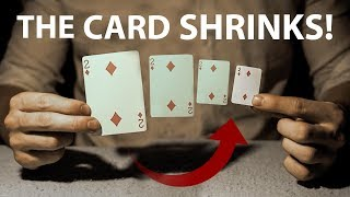 The IMPOSSIBLE Shrinking Card Magic Trick | Revealed