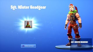"New SGT WINTER ""Reindeer Llama"" HEADGEAR in Fortnite!"