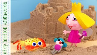 Crab and Holly's doll Ben and Holly's Little kingdom toys stop motion animation
