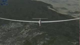 FSX / Flight Simulator X - Tutorial 7 ( Introduction to Soaring )その3 難しかった。でも、面白い! 英文字幕なし、