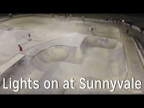 Lights on at Sunnyvale Skatepark