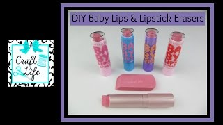 Craft Life ~ Jacy and Kacy DIY ~ Easy Baby Lips Lip Balm & Lipstick Eraser Tutorial