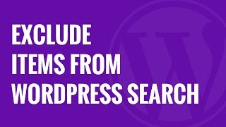 How to Exclude Specific Pages, Authors, and More from WordPress Search
