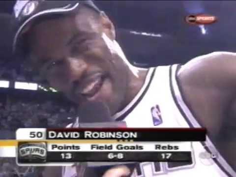 David Robinson's Final Game (13pts, 17reb, 2blk, NBA Championship)