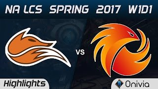 FOX vs P1 Highlights Game 2 NA LCS Spring 2017 W1D1 Echo Fox vs Phoenix1