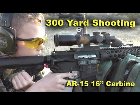 Primary Arms 1-6X Scope with ACSS Reticle Shooing at 300 yards klip izle