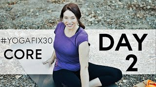Vinyasa yoga for Beginners and Intermediate Core Strength Day 2 With Fightmaster Yoga Challenge