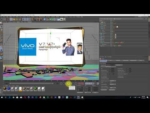 មេរៀន Cinema 4D R19 - Make Bumpe in Cinema 4D R19  Khmer Video Tutorial