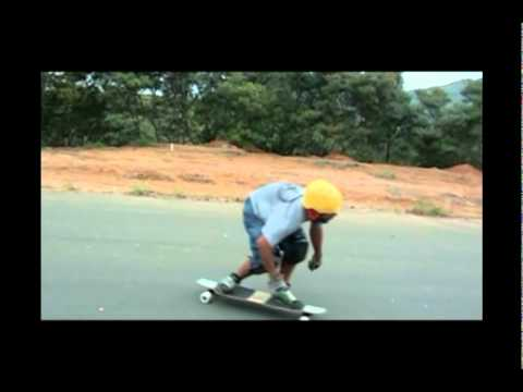 Skate Longboard Downhill Freeride - Super slow motion 120 fps - Secreto ES