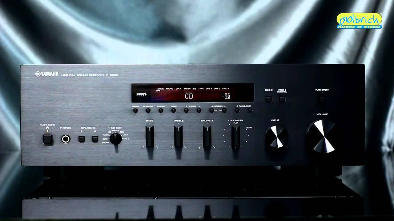 lindo receiver stereo yamaha r s500 youtube. Black Bedroom Furniture Sets. Home Design Ideas