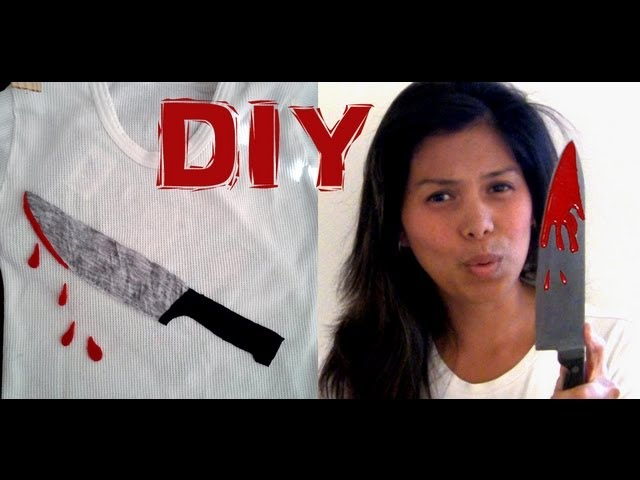 DIY Halloween Sweater - The Bloody Kitchen Knife