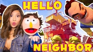 OUR CREEPY NEIGHBOUR HAS A NEW HOUSE! - Hello Neighbor Alpha 4