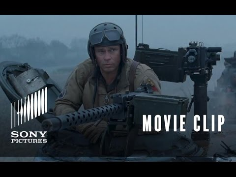 FURY Movie Clip: Sherman Tiger Fight