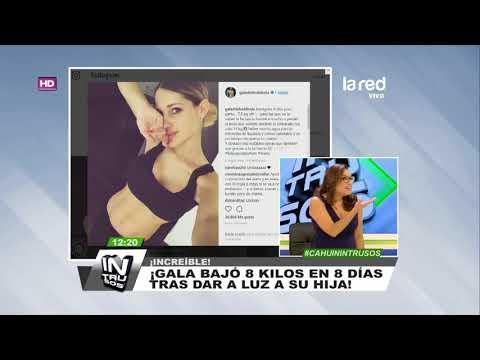 La forma en que Gala Caldirola bajó 8 kilos a tan solo 8 días del nacimiento de su hija