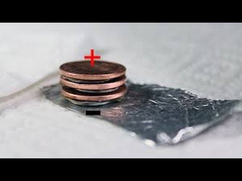 How to make a 3 penny battery (here's some I made earlier)