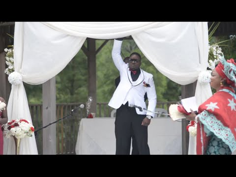 Groom walks down the aisle to WWE the Rock's Entrance Music at Nigerian Wedding - by Redwood Studio
