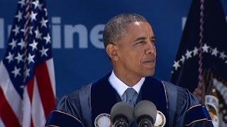 Obama bashes climate change deniers