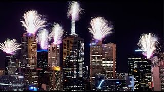 New Years Eve Fireworks 2017 Melbourne Australia
