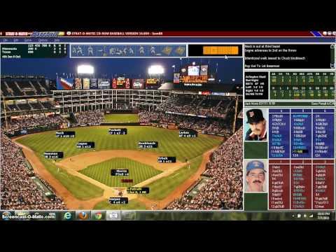 Strat-O-Matic 1991 Twins vs. Rangers
