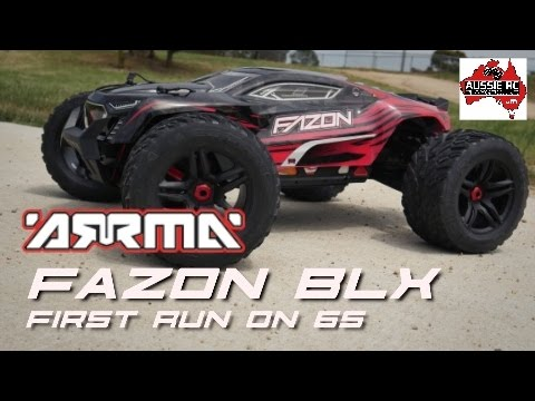 ARRMA FAZON 6S BLX First Run on 6S with 17T Pinion