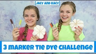 3 Marker Tie Dye Challenge ~ DIY Fun Shirts ~ Jacy and Kacy