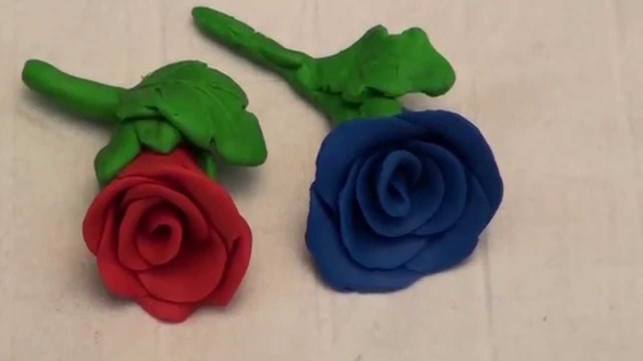 DIY Clay Rose Flower making - JK Arts 008 - YouTube
