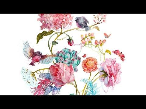 Открытка с цветами акварелью 31