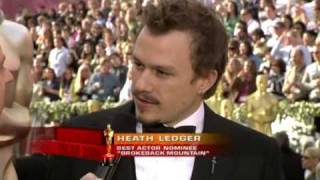 Heath Ledger red carpet interview