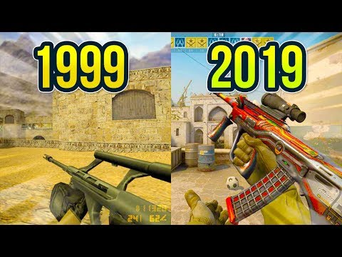 Evolution of the AUG in Counter Strike 1999 - 2019